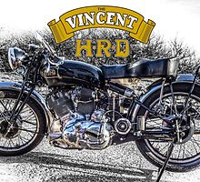 Vincent HRD Black Shadow Motorcycle by Nigel Lomas