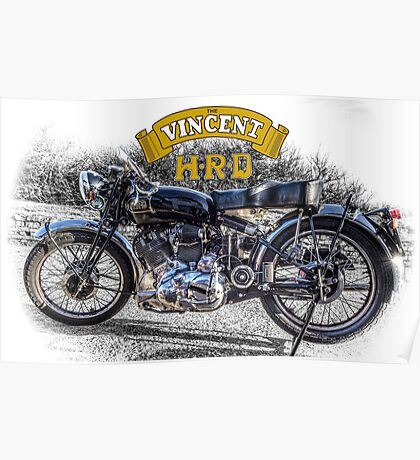 Vincent HRD Black Shadow Motorcycle Poster