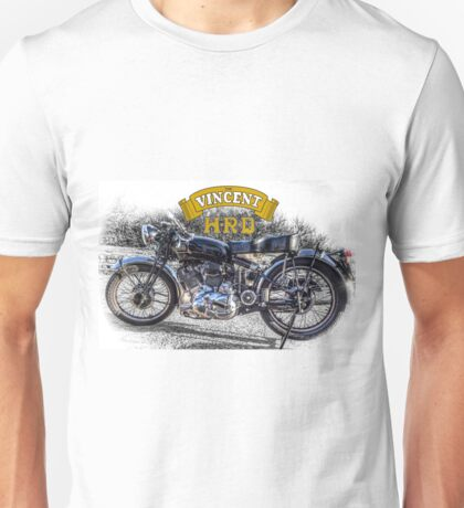Vincent HRD Black Shadow Motorcycle Unisex T-Shirt