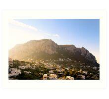 Isle of Capri in the Mediterranean Sun Art Print