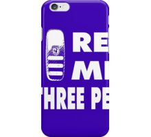 Real Men Use Three Pedals - white iPhone Case/Skin