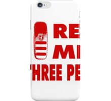 Real Men Use Three Pedals - Red iPhone Case/Skin