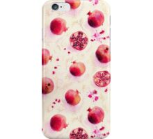Painted Pomegranates with Gold Leaf Pattern iPhone Case/Skin