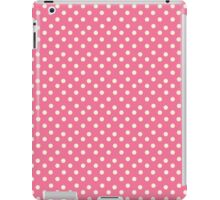 Vintage pink pattern with polka dots iPad Case/Skin