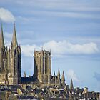 Ville de Coutances and Cathedral by AmyRalston