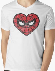 I <3 Spider-man Mens V-Neck T-Shirt