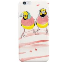 Three Pink Finches iPhone Case/Skin