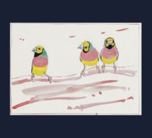 Three Pink Finches Baby Tee