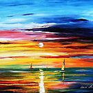 Sun Of Little Emotions — Buy Now Link - www.etsy.com/listing/225886018 by Leonid  Afremov