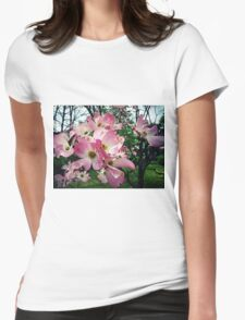 Pink Dogwood Womens Fitted T-Shirt