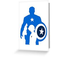 the patriot-monocolor Greeting Card