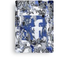 Social Series - Facebook Canvas Print