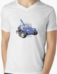 Dune Buggy Manx w Surfboard Mens V-Neck T-Shirt