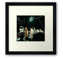 Frazier at Weigh-in Before The Thrilla In Manila. Framed Print