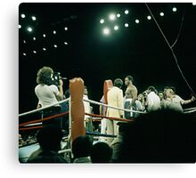 Frazier at Weigh-in Before The Thrilla In Manila. Canvas Print