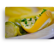 Slice of Lemon Canvas Print