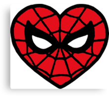 I <3 Spider-man v.2 Canvas Print