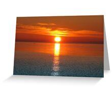 Sunrise V ( Lake Ontario)... Greeting Card