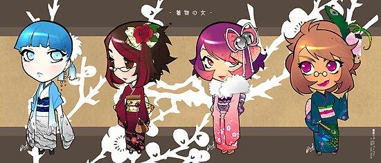 kimono girls by Rose Besch