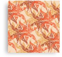 Tropical summer pattern Canvas Print