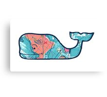 Vineyard Vines Whale Lilly Print 2 Canvas Print