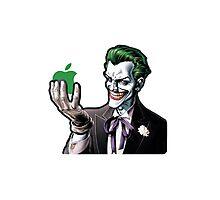 joker loves apple Photographic Print