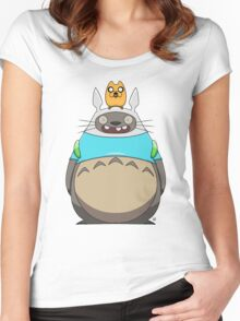 Finn Totoro Women's Fitted Scoop T-Shirt