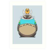 Finn Totoro Art Print
