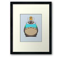 Finn Totoro Framed Print