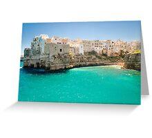 Puglia, Polignano a Mare Greeting Card