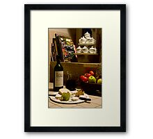 Un verre de vin rouge?  A glass of red wine? Framed Print