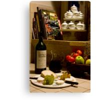 Un verre de vin rouge?  A glass of red wine? Canvas Print