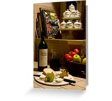 Un verre de vin rouge?  A glass of red wine? Greeting Card