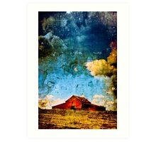 The Red Barn - American Fantasy Art Print