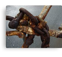 Close up Detail of Old Anchor. Canvas Print