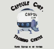 Capsule Corp. Training Center (Black Text) by ShadowBlade524