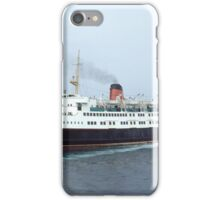 The  car ferry Ben-my-Chree leaving Douglas I.O.M. iPhone Case/Skin