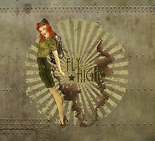 Fly High Dieselpunk Woman by atomicgirl