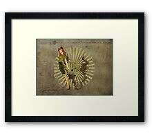 Fly High Dieselpunk Woman Framed Print