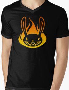 Pyro Rabbit Mens V-Neck T-Shirt