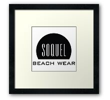 Soquel California Beach Ware Framed Print