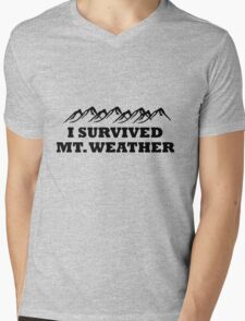 I survived Mt. Weather Mens V-Neck T-Shirt