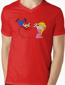 Super Charlie Bros. Mens V-Neck T-Shirt