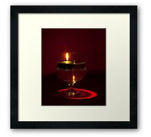 One Floating Candle Framed Print