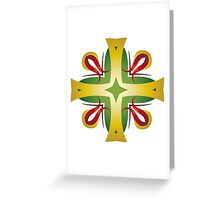 Golden Crosses, Red Lilies Greeting Card