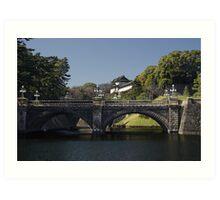 Tokyo Imperial Palace - Nijūbashi - HDR Art Print