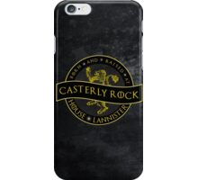 Born and Raised at Casterly Rock iPhone Case/Skin