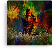 """ The future of a child is the work of her mother""  Canvas Print"