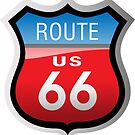 Route 66 Sign by Frank Schuster