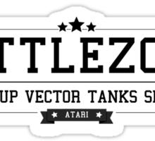 Battlezone - Retro Black Clean Sticker